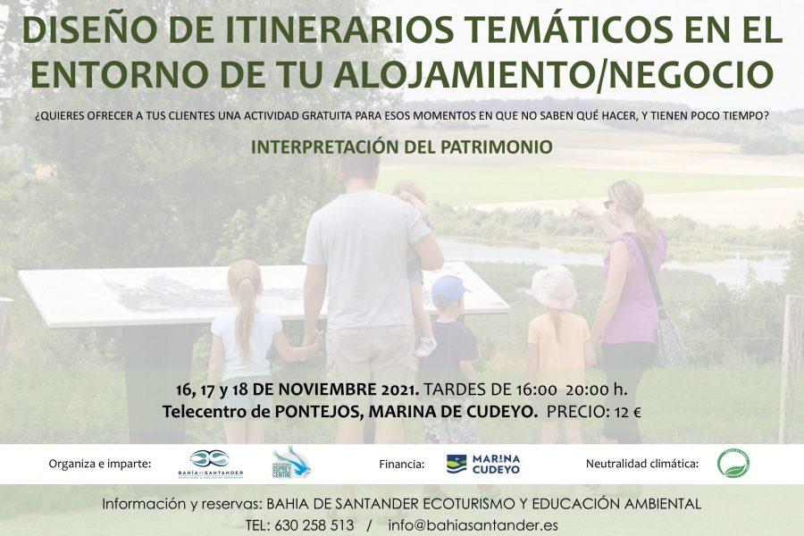 DISEÑO DE ITINERARIOS TEMÁTICOS EN EL ENTORNO DE TU ALOJAMIENTO/NEGOCIO